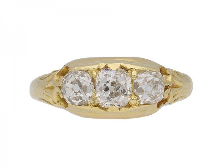 antique diamond 3 stone ring berganza hatton garden