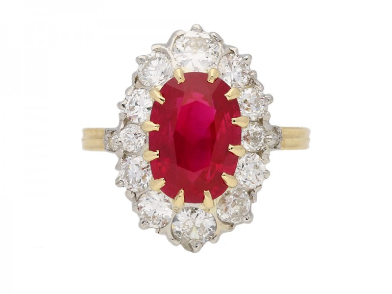 antique diamond ruby cluster ring berganza hatton garden