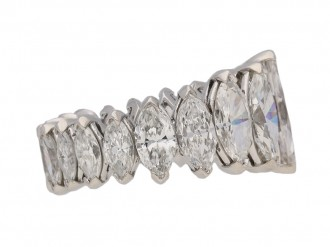 Oscar Heyman marquise diamond ring berganza hatton garden