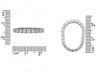 front Oscar Heyman diamond eternity ring berganza hatton garden