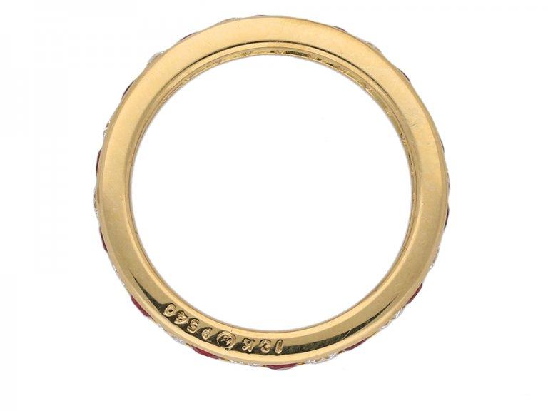 front oscar heyman ruby diamond ring berganza hatton garden