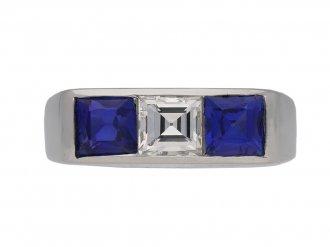 Cartier Diamond sapphire ring hatton garden