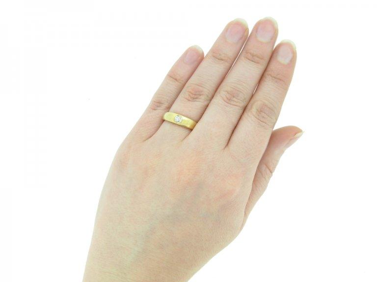 back Antique diamond engagement ring berganza hatton garden