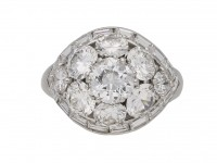Van Cleef & Arpels Diamond bombe ring berganza hatton garden