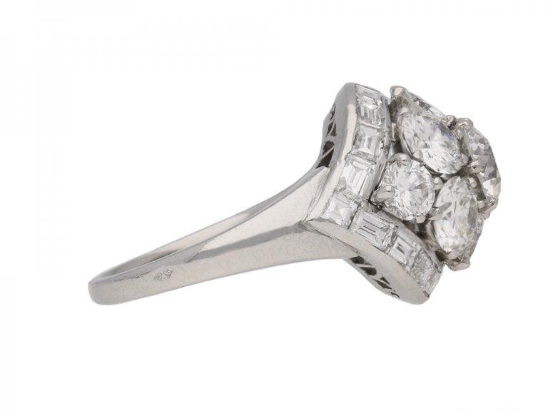 front Van Cleef & Arpels Diamond bombe ring berganza hatton garden