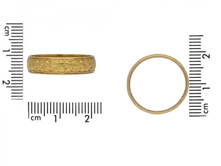 antique yellow gold wedding ring berganza hatton garden