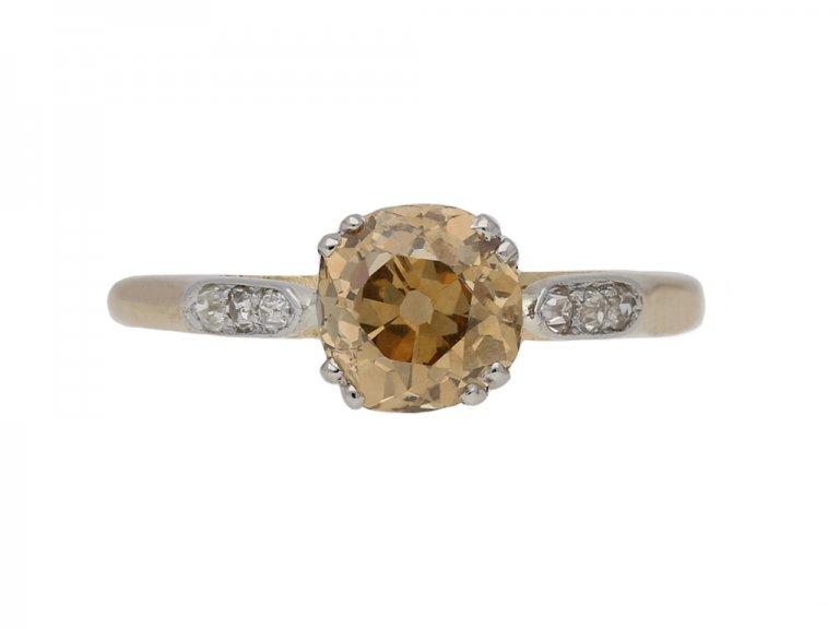 antique fancy diamond engagement ring berganza hatton garden