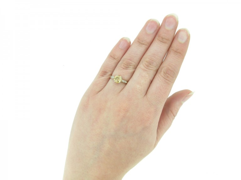 front antique fancy diamond engagement ring berganza hatton garden