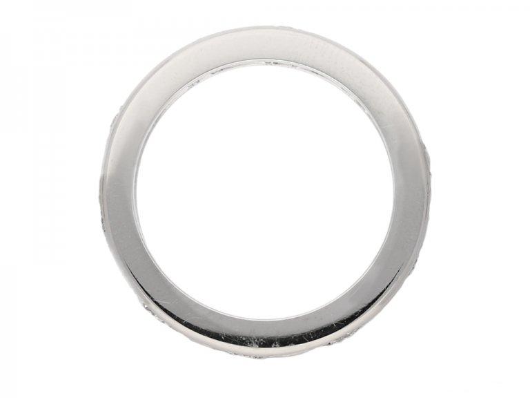 front Oscar Heyman diamond eternity ring berganza hatton garden`