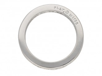 side Oscar Heyman diamond eternity ring berganza hatton garden