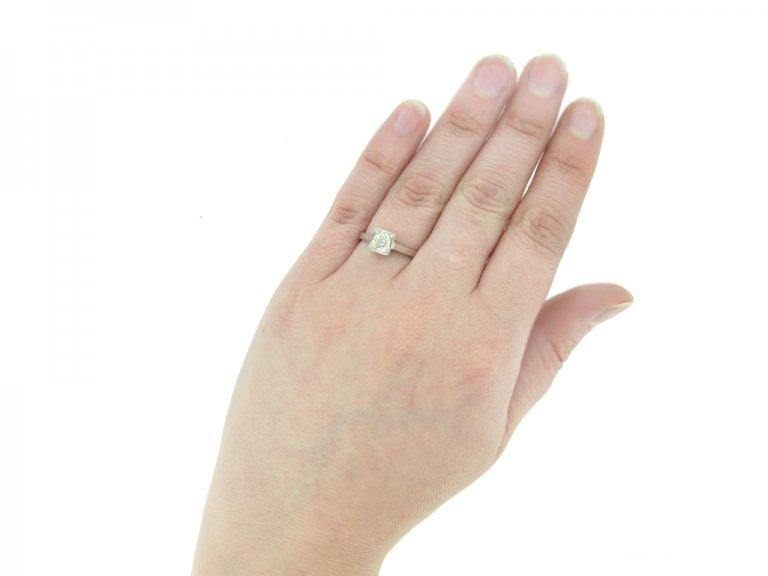 front vintage diamond ring berganza hatton garden