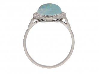 front antique diamond opal ring berganza hatton garden