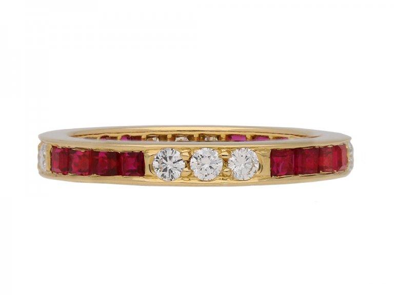 oscar heyman diamond ruby eternity ring berganza hatton garden