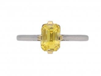 vintage yellow sapphire ring berganza hatton garden