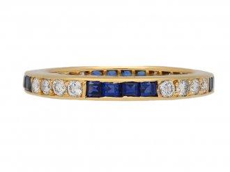 Oscar Heyman diamond sapphire ring berganza hatton garden