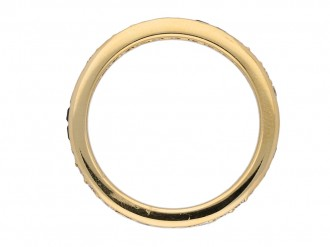 front Oscar Heyman diamond sapphire ring berganza hatton garden