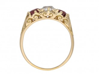 front antique ruby diamond ring hatton garden berganza