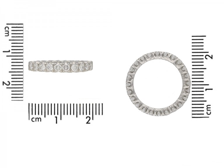 front Oscar Heyman diamond eternity ring berganza hatton garden