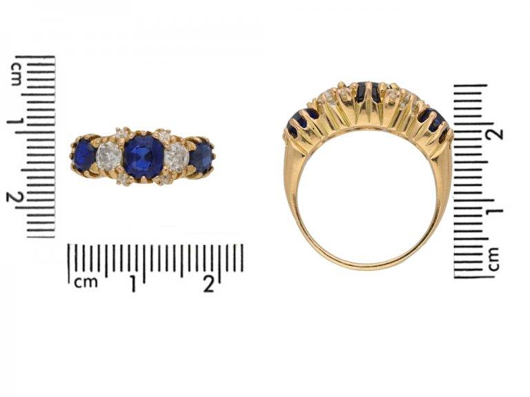front antique diamond sapphire ring hatton garden berganza