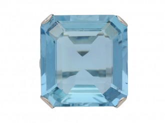 Art Deco aquamarine ring berganza hatton garden