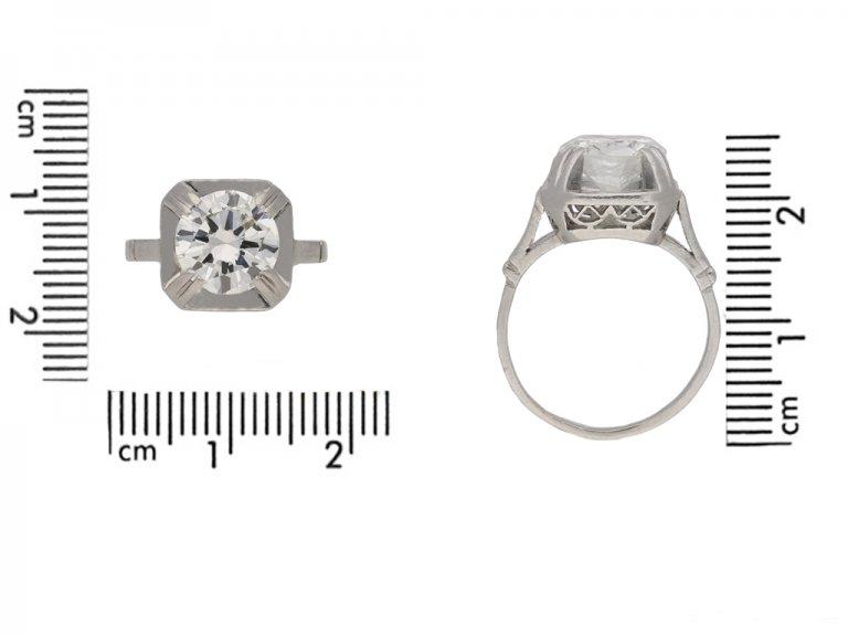 front antique diamond ring berganza hatton garden