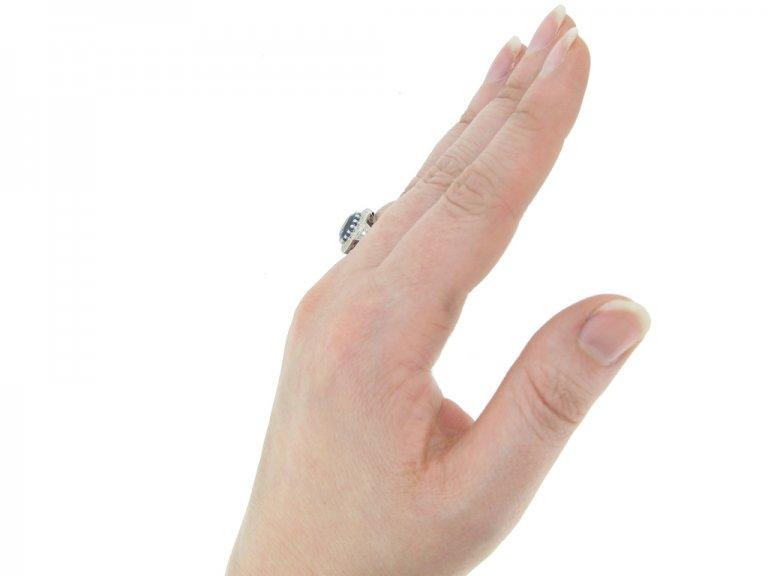 front antique sapphire diamond ring hatton garden berganza