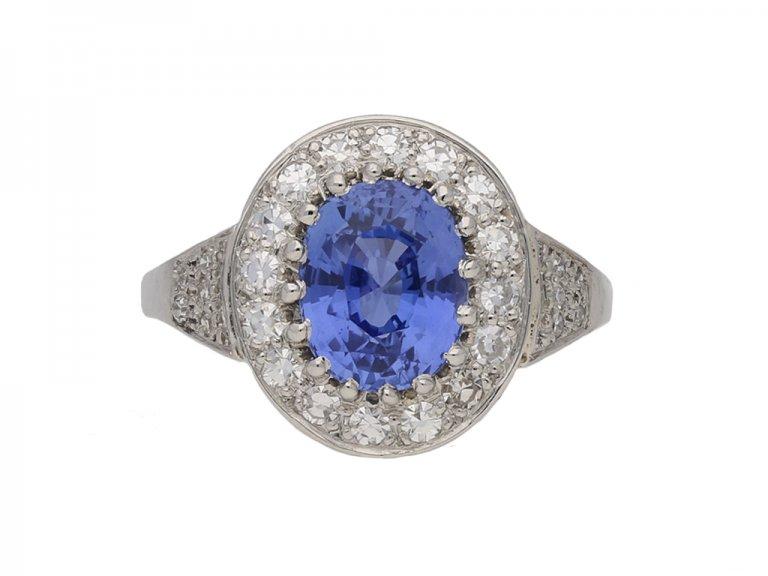 antique sapphire diamond ring hatton garden berganza
