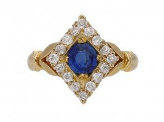 antique diamond sapphire ring berganza hatton garden