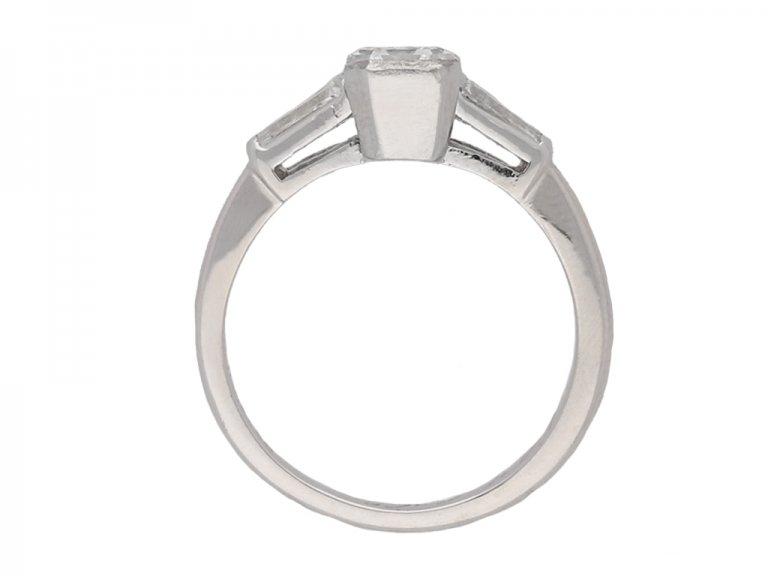 front vintage engagement diamond ring berganza hatton garden