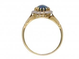 front antique diamond opal ring hatton garden berganza