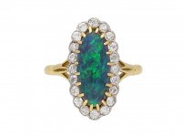 antique diamond opal ring hatton garden berganza
