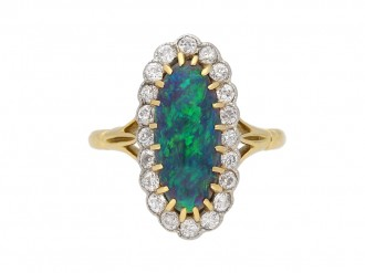 antique diamond opal ring hatton garden berganza