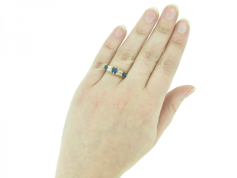 front antique sapphire diamond ring berganza hatton garden