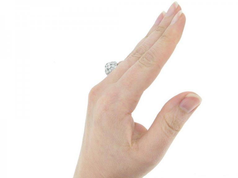 front art deco diamond cluster ring berganza hatton garden