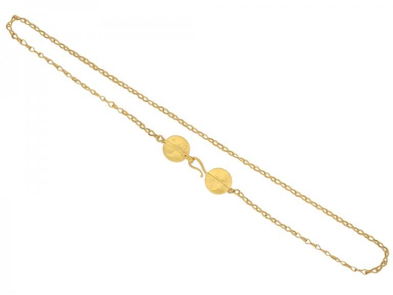 Ancient Roman yellow gold necklace berganza hatton garden