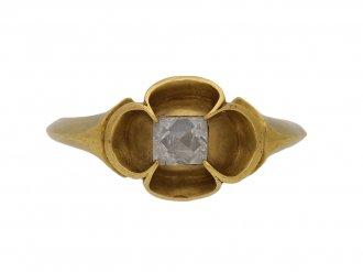 Medieval point cut diamond ring berganza hatton garden