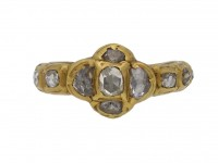 early rose cut diamond ring berganza hatton garden