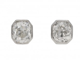 vintage Old mine diamond earrings berganza hatton garden