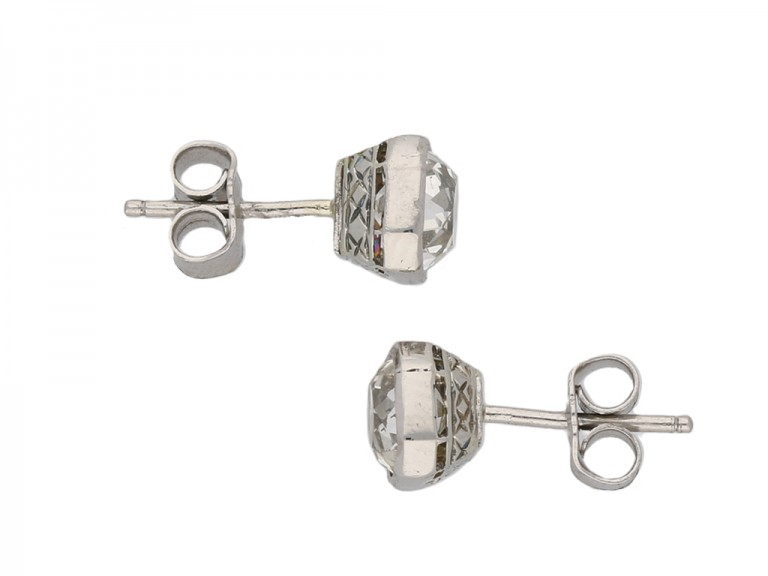 vintage Old mine diamond earrings berganza hatton garden