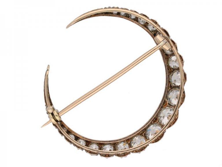 antique diamond crescent brooch berganza hatton garden