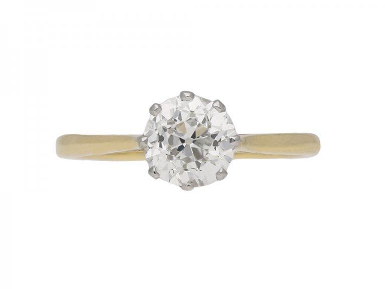 t antique diamond engagement ring berganza hatton garden
