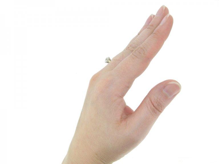 front antique diamond engagement ring berganza hatton garden