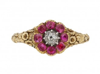antique diamond ruby ring berganza hatton garden