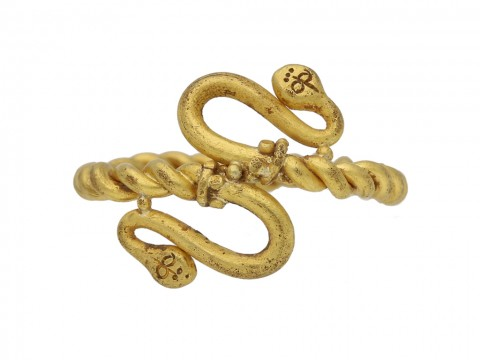 Egyptian snake gold ring berganza hatton garden