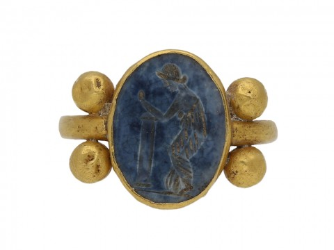 ancient roman gold intaglio ring berganza hatton garden