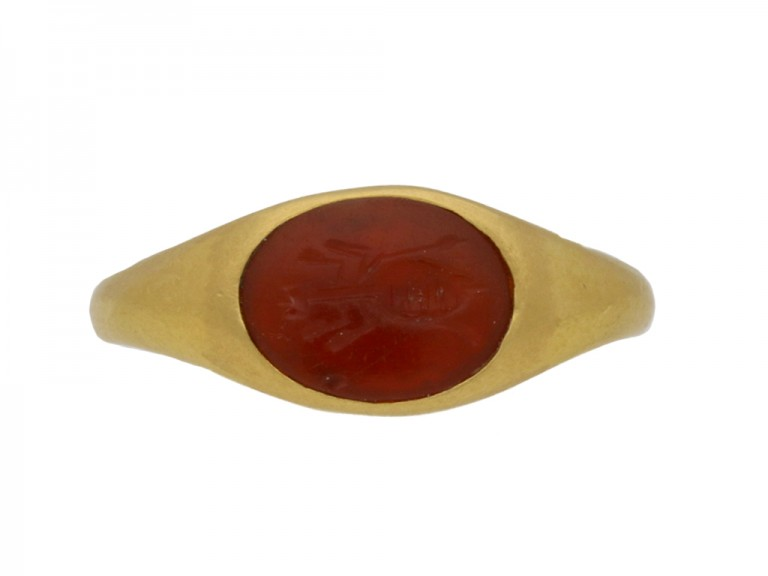 ancient roman intaglio gold ring hatton garden berganza