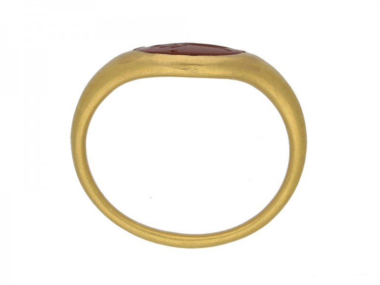 front ancient roman intaglio gold ring hatton garden berganza
