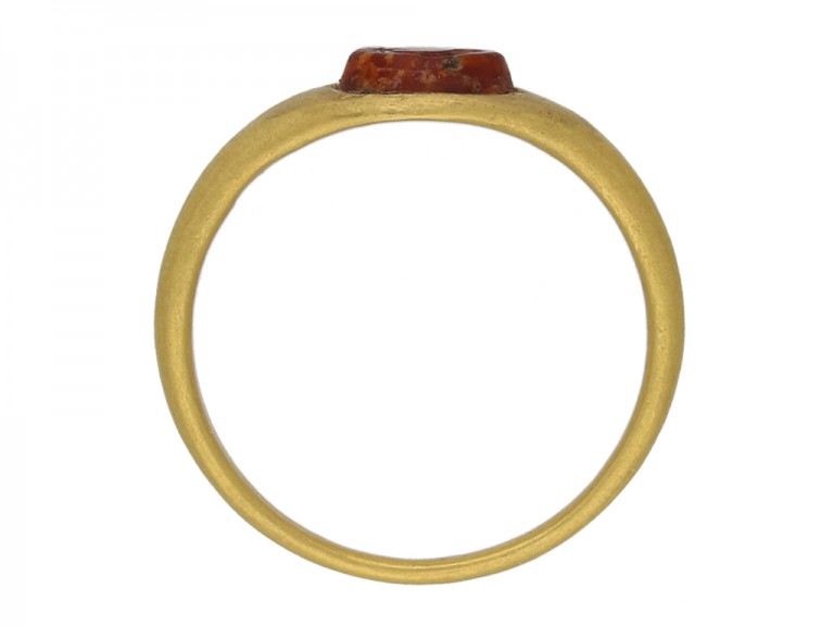 front ancient roman yellow gold ring hatton garden berganza