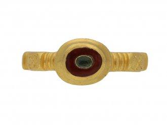 Ancient Roman resin gold ring hatton garden berganza