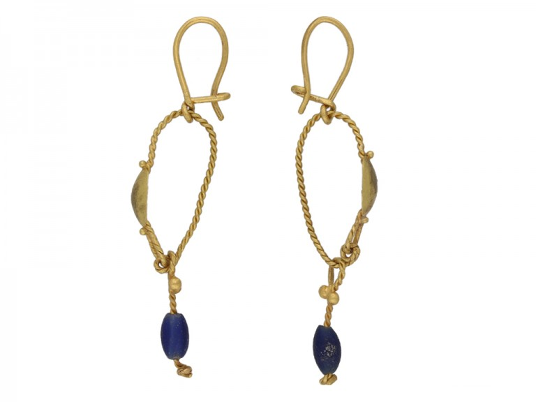Ancient Roman gold earrings hatton garden berganza